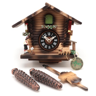 Hones Black Forest Hand-Carved Cuckoo Clock, Late 20th Century