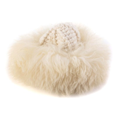Betmar Dyed Tuscan Lamb Fur and Knit Hat