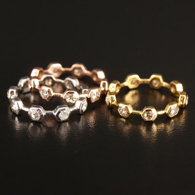 14K 2.34 CTW Diamond Stacking Eternity Bands