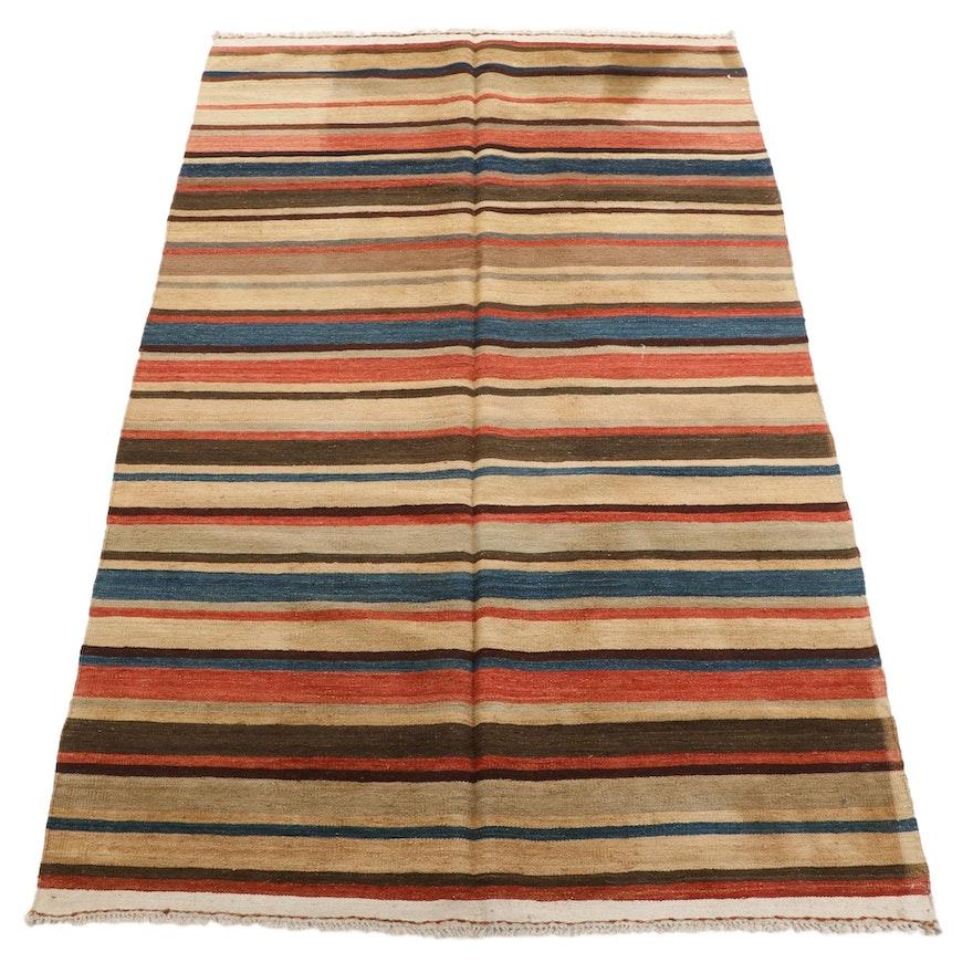 5'3 x 8'8 Handwoven Afghan Village Kilim Area Rug, Mid-Late 20th Century