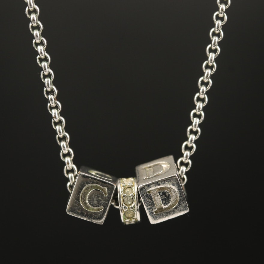 Christian Dior Rhinestone Necklace