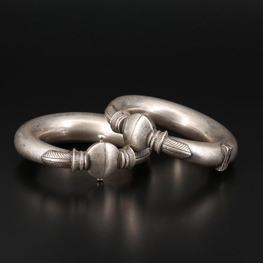 Indian 900 Silver Gujarati Kadia Anklets