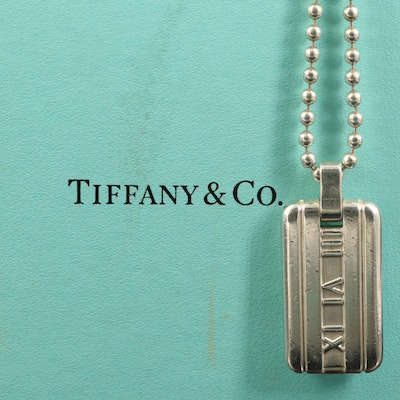 "Tiffany & Co. ""Atlas"" Sterling Tag Necklace"