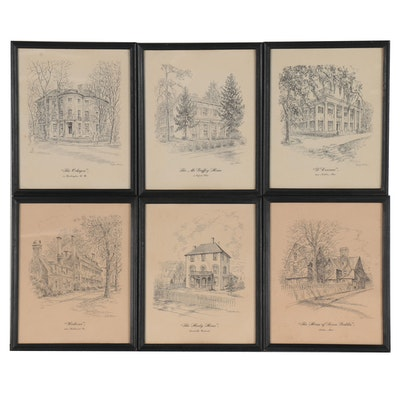 Lithographs after Caroline Williams, Late 20th Century