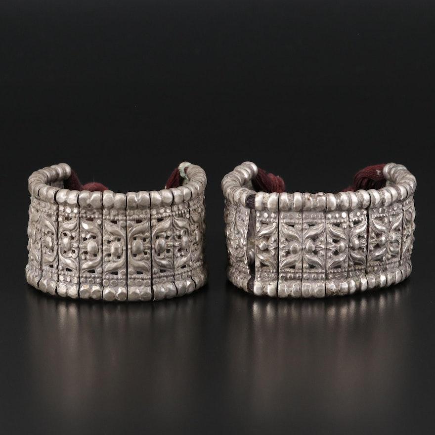 Indian Asian Rajasthani Bazuband 800 Silver Armlets