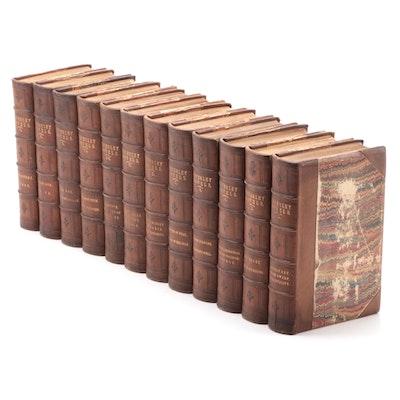 """The Waverley Novels"" Complete Twelve-Volume Abbotsford Edition, 1858"