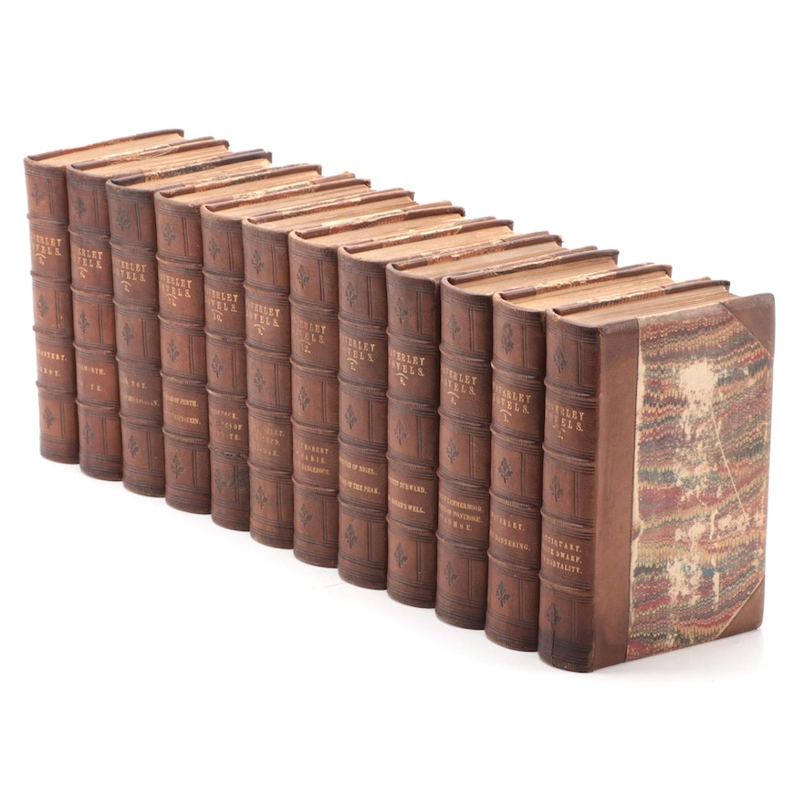 """The Waverley Novels"" Complete Twelve-Volume Abbotsford Edition, 1858"