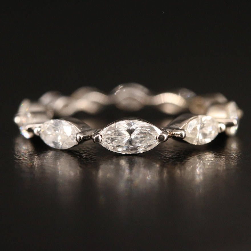 14K 1.50 CTW Diamond Graduated Eternity Band