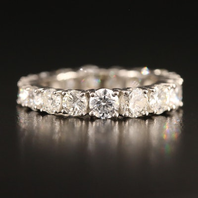 Platinum 3.76 CTW Diamond Eternity Band