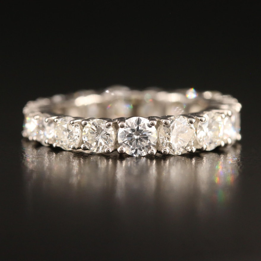 Platinum 3.76 CTW Diamond Eternity Band