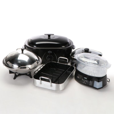 Oster and Rival Roasting Pans and Woks with Others