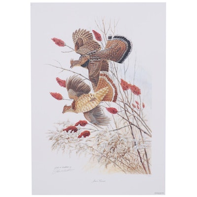 "John A. Ruthman Offset Lithograph ""Jim's Grouse"""