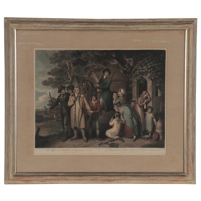 Henry Gillbank Hand-Colored Mezzotint after William Redmore Bigg, 1803