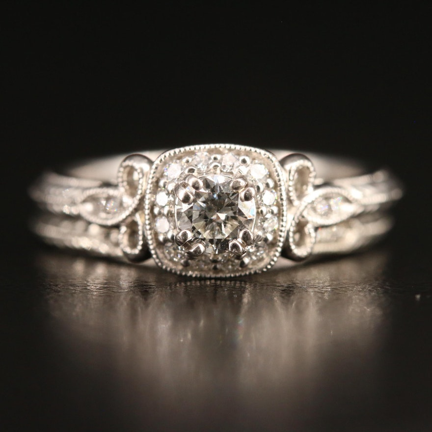Gabriel & Co. Platinum Diamond Ring Set