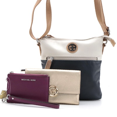 MICHAEL Michael Kors Pebbled Leather Wallets and Giani Bernini Crossbody Bag