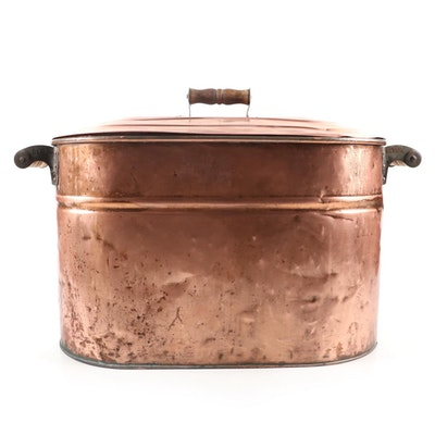 Revere Copper Boiler with Lid, Late 19th/Early 20th Century
