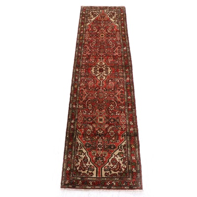 2'6 x 10'3 Hand-Knotted Persian Hamadan Carpet Runner
