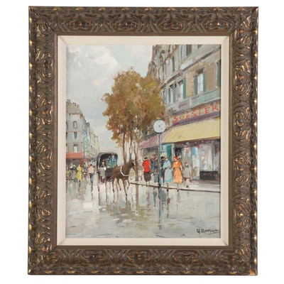 Maresca Parisian Street Scene Oil Painting