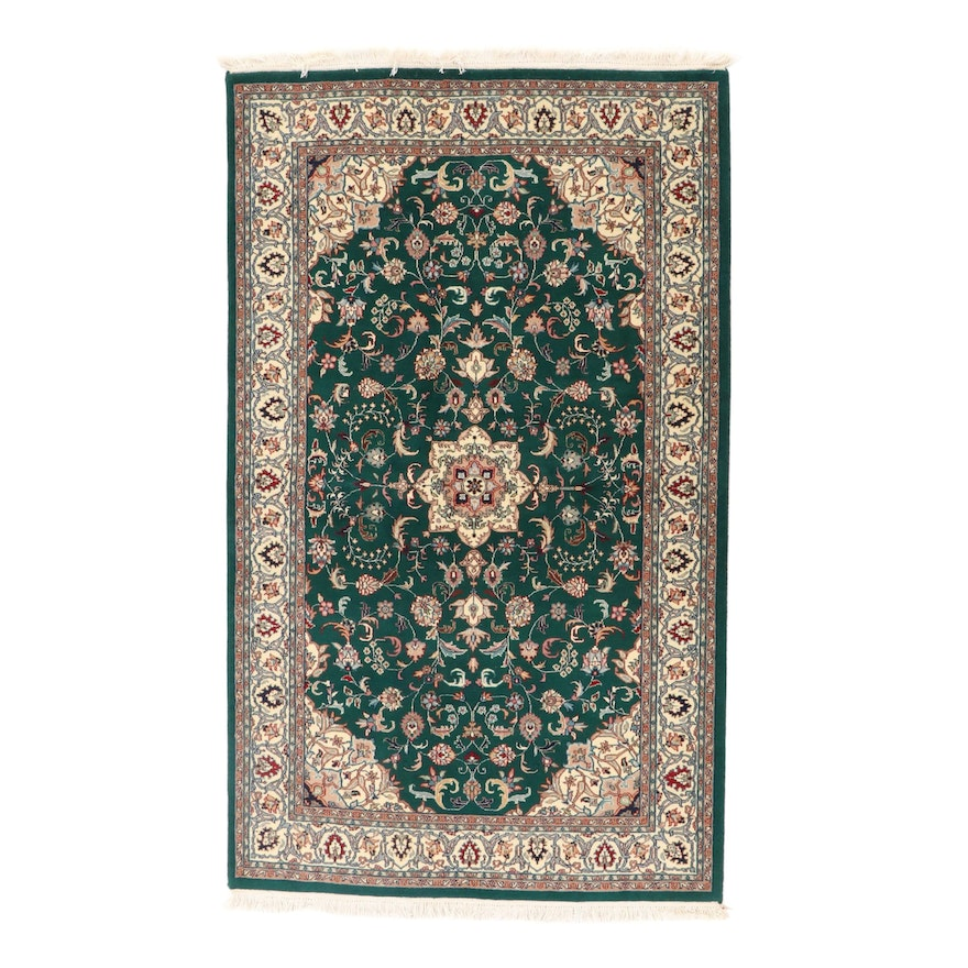 5'1 x 8'8 Hand-Knotted Indo-Persian Tabriz Area Rug, 2000s