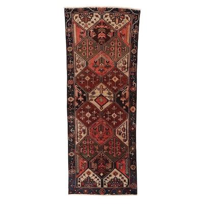 3'6 x 9' Hand-Knotted Persian Bakhtiari Wool Long Rug, circa 1950s