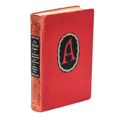 "Illustrator Signed ""The Scarlet Letter"" by Nathaniel Hawthorne, 1941"