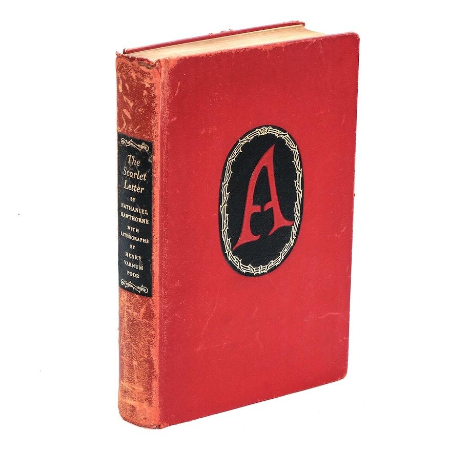 "Illustrator Signed ""The Scarlet Letter"" by Nathaniel Hawthorne, 1941"