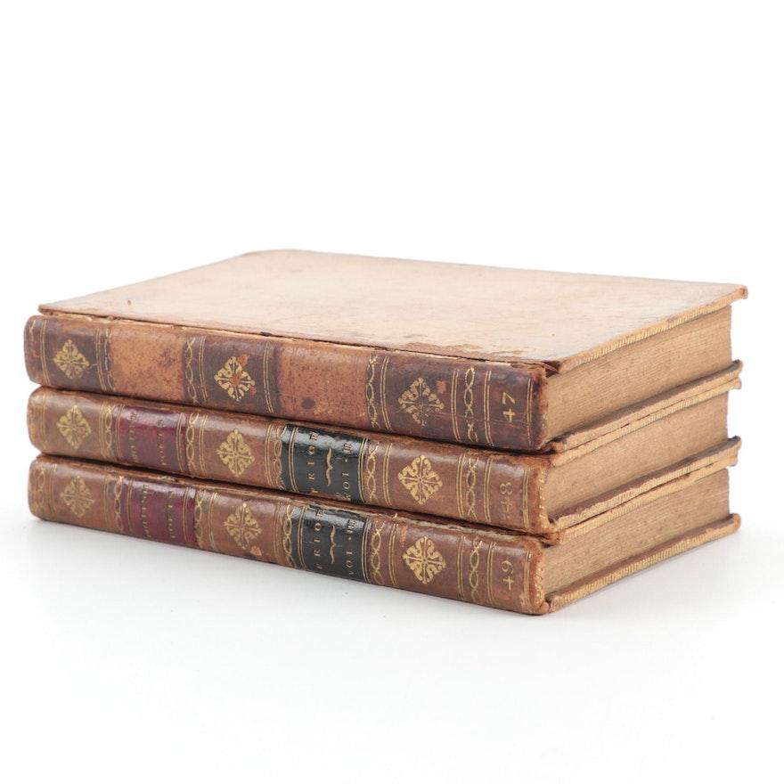 """The Poetical Works of Matthew Prior,"" Three-Volume Set, 1777–1798"