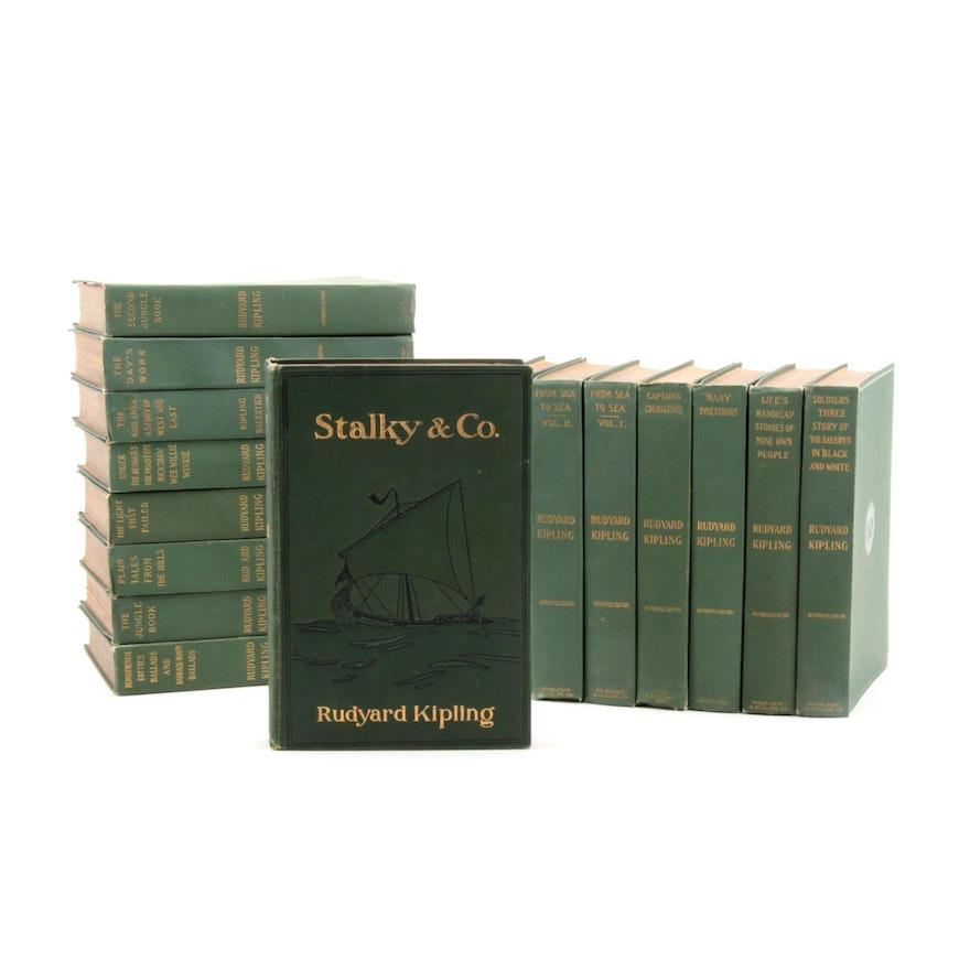 """The Works of Rudyard Kipling"" Sixteen-Volume Collection, 1899"