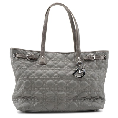 Christian Dior Panarea Metallic Cannage Quilted Tote