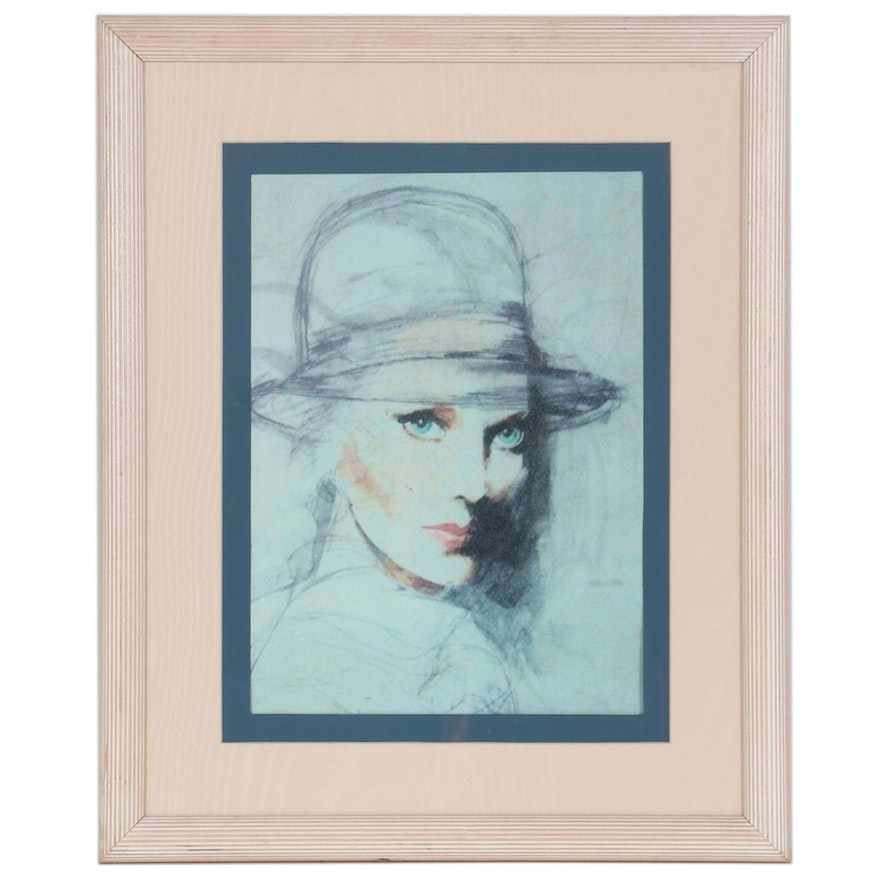 Offset Lithograph after Anne Wainscott of Fashion Illustration
