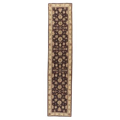 2'6 x 11'11 Hand-Tufted Sino-Persian Tabriz Silk and Wool Carpet Runner, 2000s