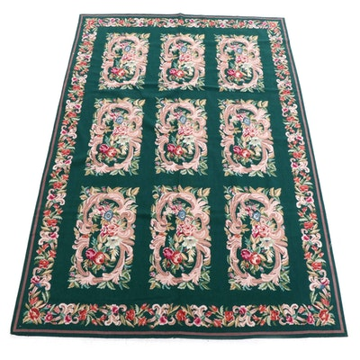 5'10 x 8'11 Handmade French Aubusson Style Needlepoint Area Rug