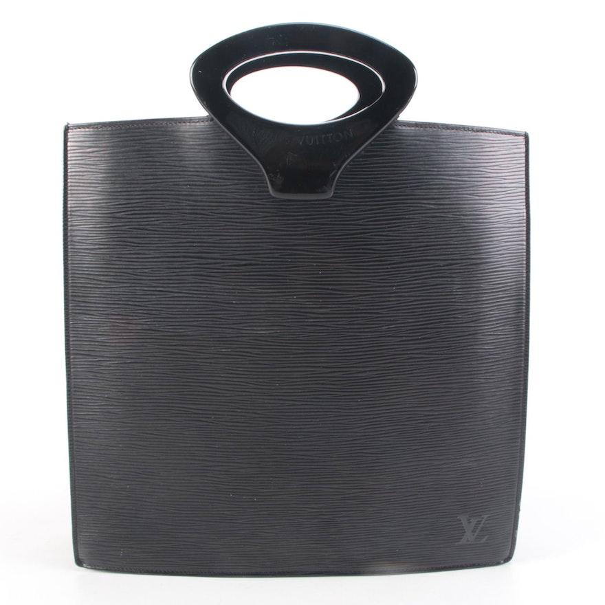 Louis Vuitton Ombre Handbag in Black Epi Leather