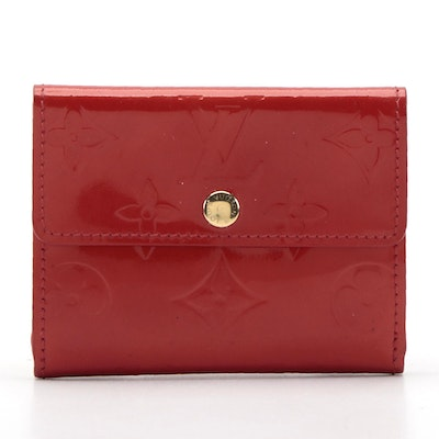 Louis Vuitton Ludlow Card Holder in Red Monogram Vernis