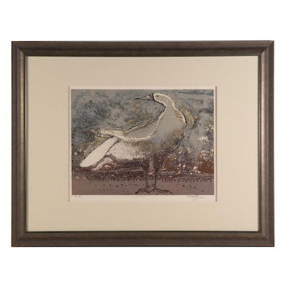 "Color Etching ""Sea Bird,"" Late 20th Century"