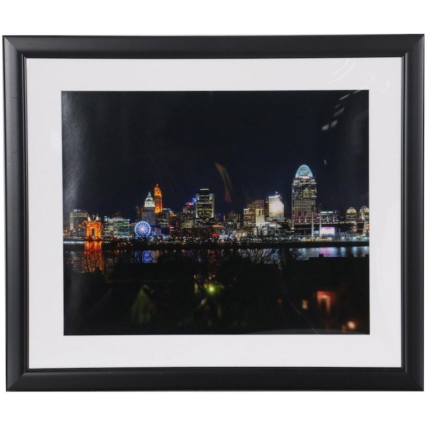 Chromogenic Photograph of Cincinnati Skyline, 21st Century