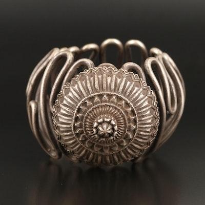 Indian Madhya Pradesh Nagmuri Sterling and 950 Silver Upper Arm Bangle