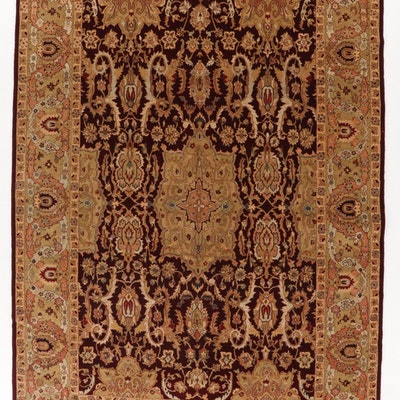 9'9 x 14'6 Hand-Knotted Pakistani Persian Tabriz Room Size Rug, 2000s