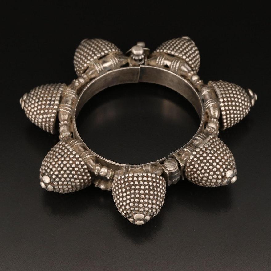 Indian 800 Silver Rajasthani Naugari Bracelet