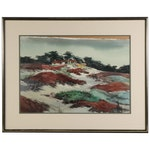 "Ellen Frank Chan Watercolor Painting ""Pebble Beach Iceplant"""