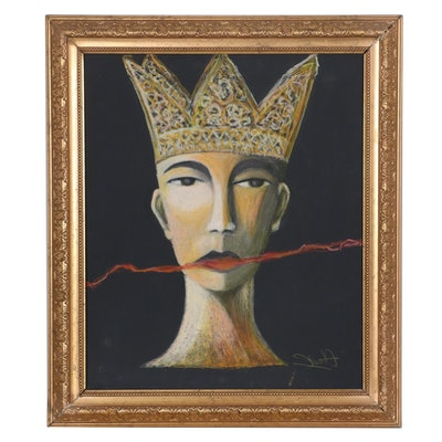 """Jim Helbling Pastel Drawing """"The King,"""" 2008"""
