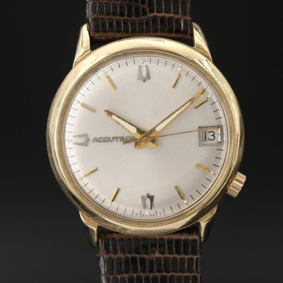 "14K Gold Bulova ""Accutron"" Wristwatch, Circa 1969"