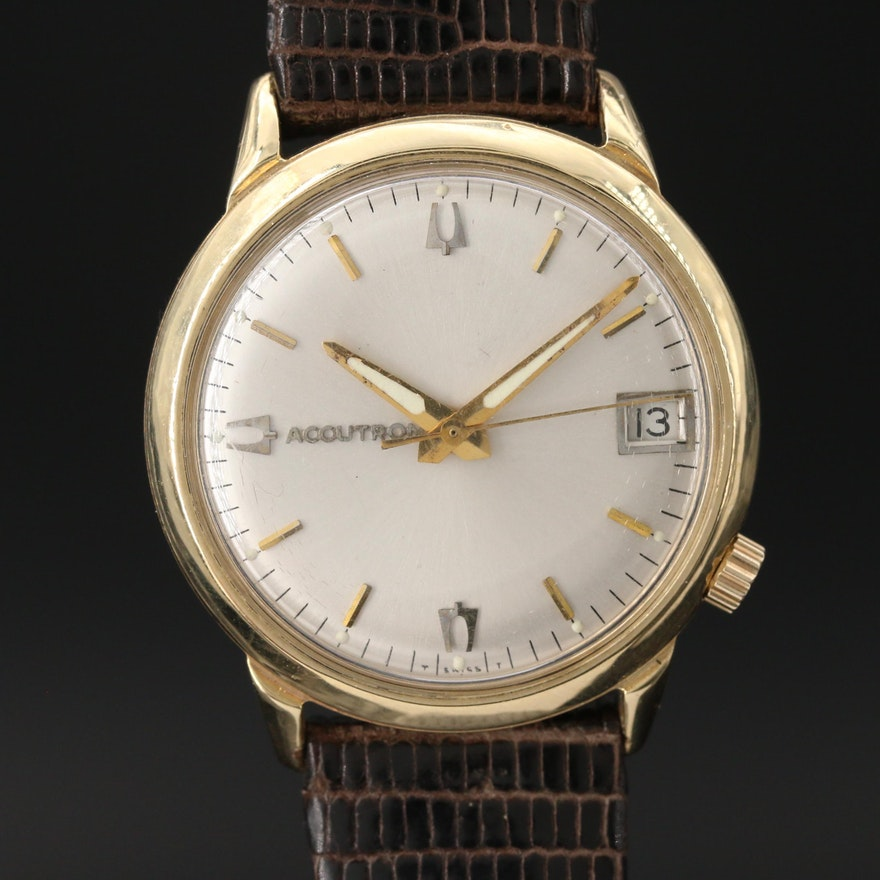 "14K Gold Bulova ""Accutron"" Wristwatch, Circa 1969"