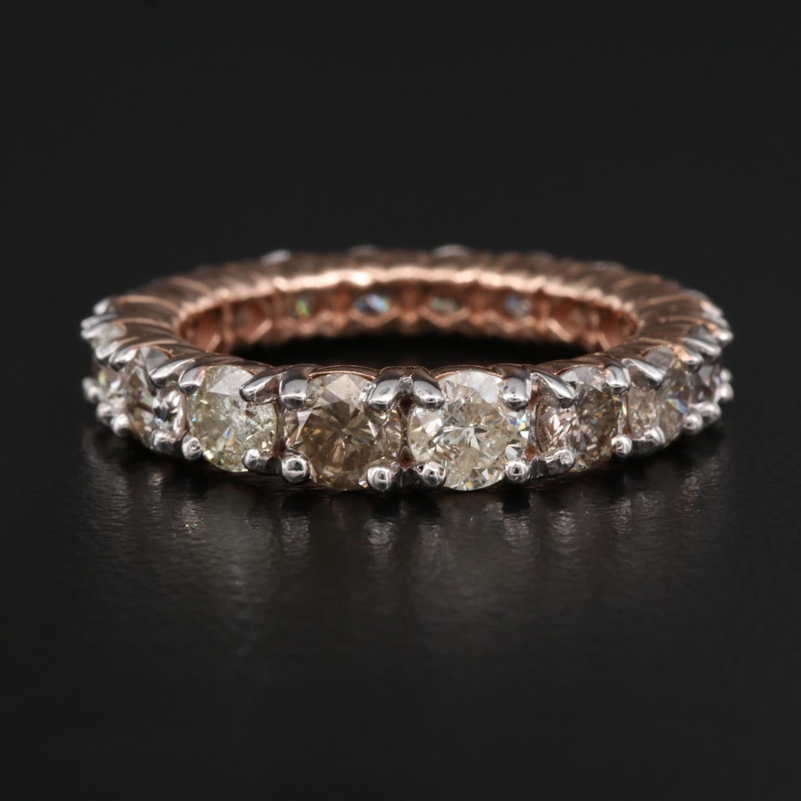 14K 3.75 CTW Diamond Graduated Eternity Band