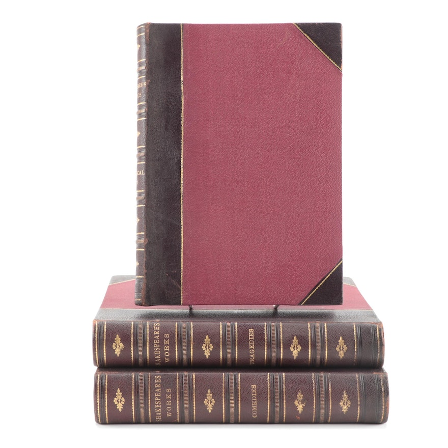 """The Complete Works of Shakespeare"" Three Volume Collection"