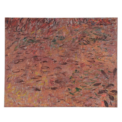Jerald Mironov Large-Scale Abstract Oil Painting, Late 20th Century