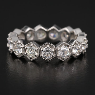 Platinum 2.02 CTW Diamond Eternity Band