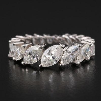 18K 4.07 CTW Diamond Graduated Eternity Band