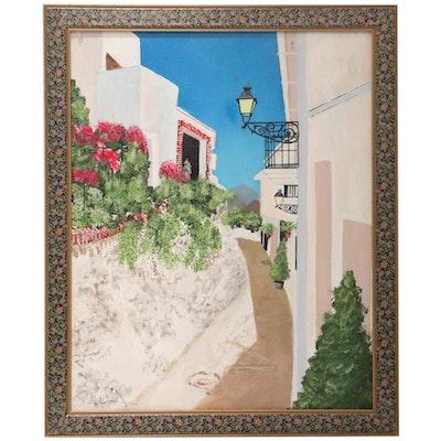 """Acrylic Painting after Alejandro Velasco """"Andalucía Pueblos Blancos"""""""