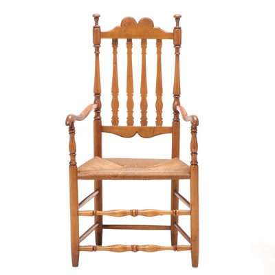 New England Maple Banister-Back Armchair, 18th Century